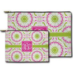 Pink & Green Suzani Zipper Pouch (Personalized)