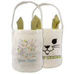 Easter Bunnies Easter Basket (Personalized)