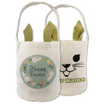Easter Bunnies Frame Easter Basket (Personalized)