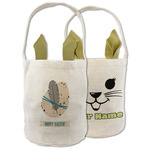 Easter Egg & Feather Easter Basket (Personalized)