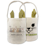 Easter Bunnies In A Line Easter Basket (Personalized)