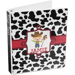 Cowprint w/Cowboy 3-Ring Binder (Personalized)