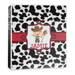 Cowprint w/Cowboy 3-Ring Binder - 1 inch (Personalized)
