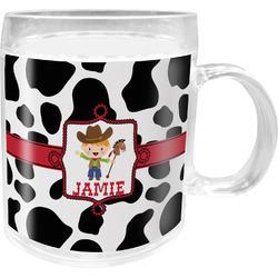 Cowprint w/Cowboy Acrylic Kids Mug (Personalized)