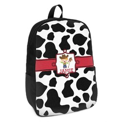 Cowprint w/Cowboy Kids Backpack (Personalized)