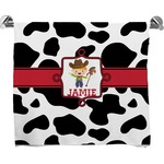 Cowprint w/Cowboy Full Print Bath Towel (Personalized)