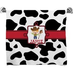 Cowprint w/Cowboy Full Print Bath Towel (Personalized)