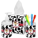 Cowprint w/Cowboy Bathroom Accessories Set (Personalized)