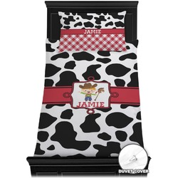 Cowprint w/Cowboy Duvet Cover Set - Toddler (Personalized)