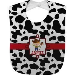 Cowprint w/Cowboy Baby Bib (Personalized)