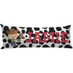 Cowprint w/Cowboy Body Pillow Case (Personalized)