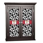 Cowprint w/Cowboy Cabinet Decal - Custom Size (Personalized)