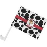 Cowprint w/Cowboy Car Flag (Personalized)