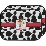 Cowprint w/Cowboy Car Floor Mats (Back Seat) (Personalized)