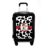 Cowprint w/Cowboy Carry On Hard Shell Suitcase (Personalized)