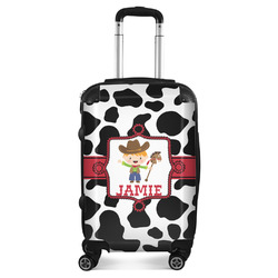 Cowprint w/Cowboy Suitcase (Personalized)