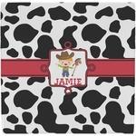 Cowprint w/Cowboy Ceramic Tile Hot Pad (Personalized)