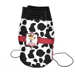 Cowprint w/Cowboy Neoprene Drawstring Backpack (Personalized)