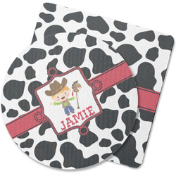 Cowprint w/Cowboy Rubber Backed Coaster (Personalized)