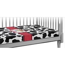 Cowprint w/Cowboy Crib Fitted Sheet (Personalized)