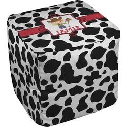 Cowprint w/Cowboy Cube Pouf Ottoman (Personalized)
