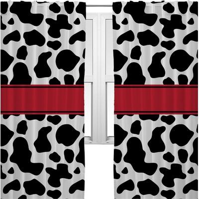Cowprint W Cowboy Curtains 2 Panels Per Set Personalized Youcustomizeit