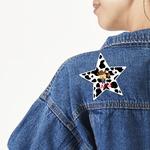 Cowprint w/Cowboy Large Custom Shape Patch (Personalized)