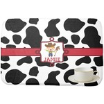 Cowprint w/Cowboy Dish Drying Mat (Personalized)