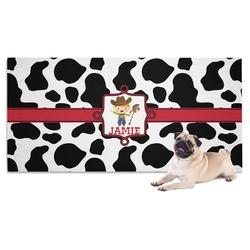 Cowprint w/Cowboy Pet Towel (Personalized)
