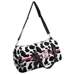 Cowprint w/Cowboy Duffel Bag - Multiple Sizes (Personalized)