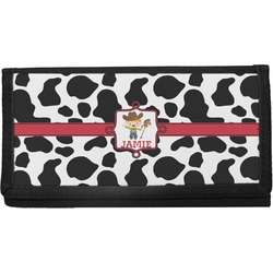 Cowprint w/Cowboy Canvas Checkbook Cover (Personalized)