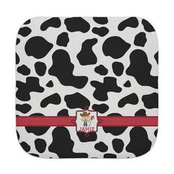 Cowprint w/Cowboy Face Towel (Personalized)
