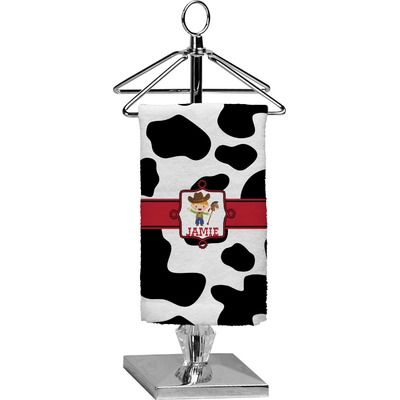 Cowprint w/Cowboy Finger Tip Towel - Full Print (Personalized)
