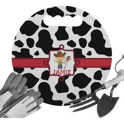 Cowprint w/Cowboy Gardening Knee Cushion (Personalized)