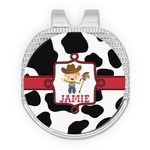 Cowprint w/Cowboy Golf Ball Marker - Hat Clip