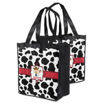 Cowprint w/Cowboy Grocery Bag (Personalized)