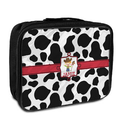 Cowprint w/Cowboy Insulated Lunch Bag (Personalized)