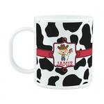 Cowprint w/Cowboy Plastic Kids Mug (Personalized)