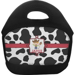 Cowprint w/Cowboy Toddler Lunch Tote (Personalized)