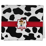 Cowprint w/Cowboy Kitchen Towel - Full Print (Personalized)
