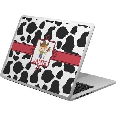Cowprint w/Cowboy Laptop Skin - Custom Sized (Personalized)