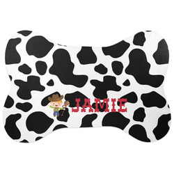 Cowprint w/Cowboy Bone Shaped Dog Food Mat (Personalized)