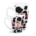 Cowprint w/Cowboy Latte Mug (Personalized)