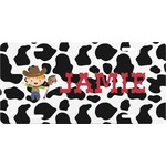 Cowprint w/Cowboy Front License Plate (Personalized)