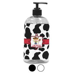 Cowprint w/Cowboy Plastic Soap / Lotion Dispenser (Personalized)
