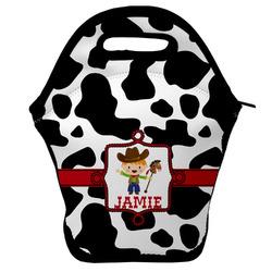 Cowprint w/Cowboy Lunch Bag w/ Name or Text