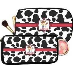 Cowprint w/Cowboy Makeup / Cosmetic Bag (Personalized)