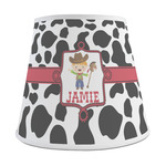 Cowprint w/Cowboy Empire Lamp Shade (Personalized)