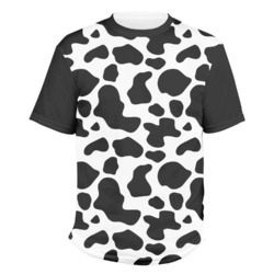 Cowprint w/Cowboy Men's Crew T-Shirt (Personalized)