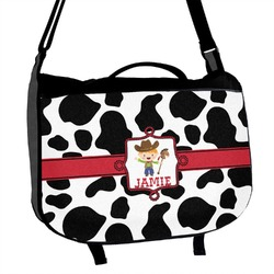 Cowprint w/Cowboy Messenger Bag (Personalized)